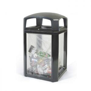 Contenedor con paneles transparentes