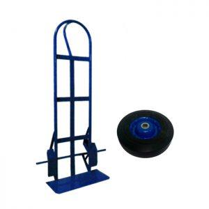 Carretilla con rueda maciza rin azul