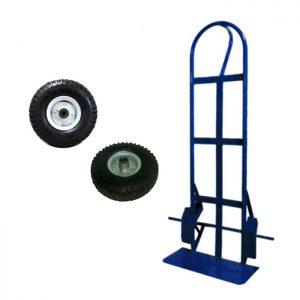 Carretilla con rueda neumática reforzada